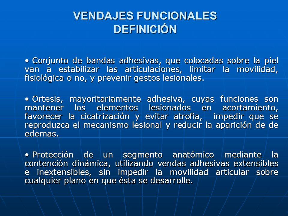 VENDAJES FUNCIONALES DEFINICIÓN