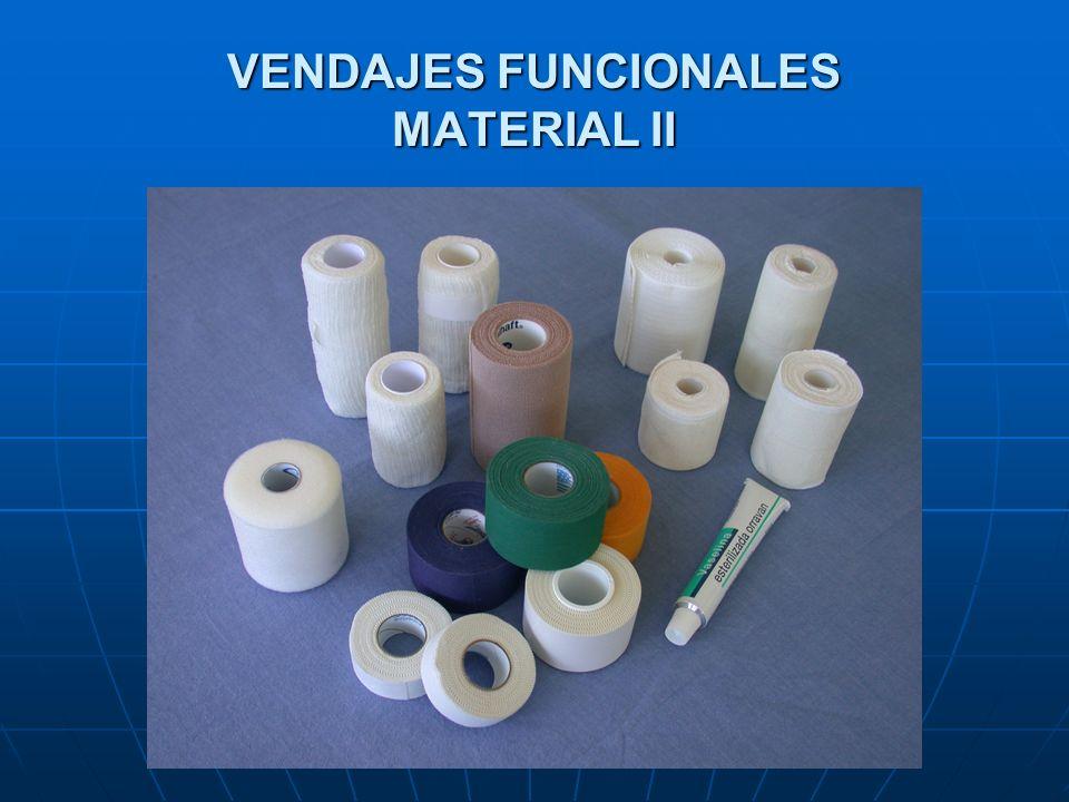 VENDAJES FUNCIONALES MATERIAL II