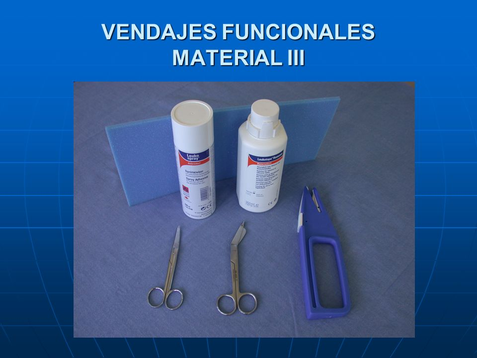 VENDAJES FUNCIONALES MATERIAL III