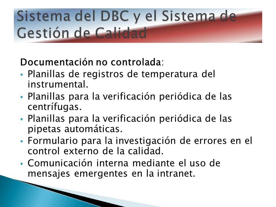 Sistema del DBC y el Sistema de Gestión de Calidad