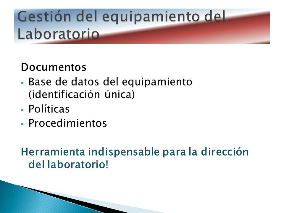 Gestión del equipamiento del Laboratorio