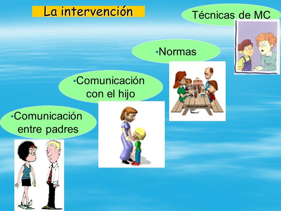 La intervención Técnicas de MC Normas Comunicación con el hijo