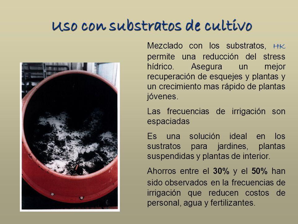 Uso con substratos de cultivo