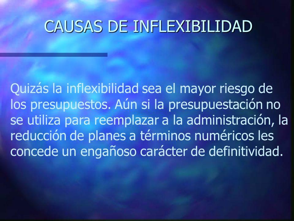 CAUSAS DE INFLEXIBILIDAD