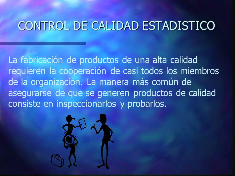 CONTROL DE CALIDAD ESTADISTICO