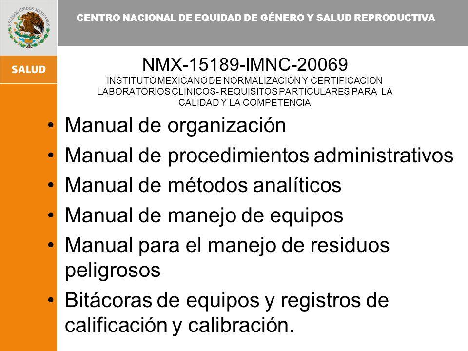 Manual de organización Manual de procedimientos administrativos