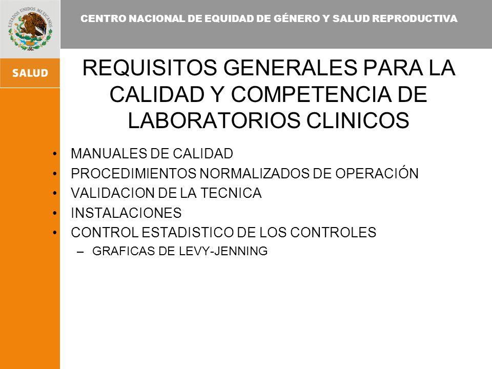 REQUISITOS GENERALES PARA LA CALIDAD Y COMPETENCIA DE LABORATORIOS CLINICOS