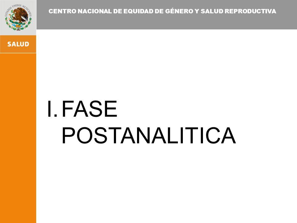 FASE POSTANALITICA