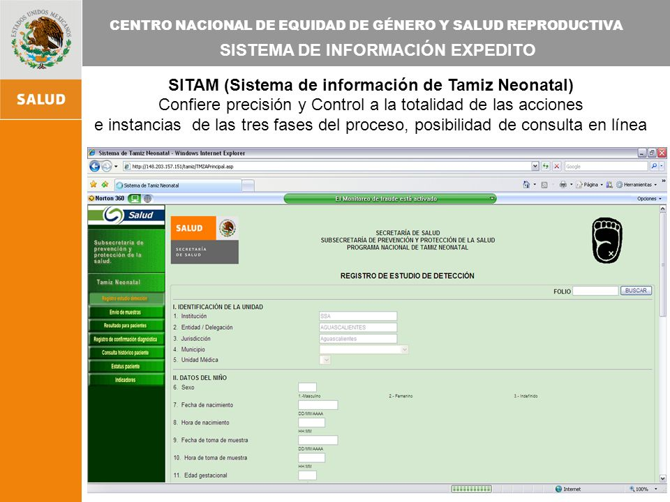 SITAM (Sistema de información de Tamiz Neonatal)