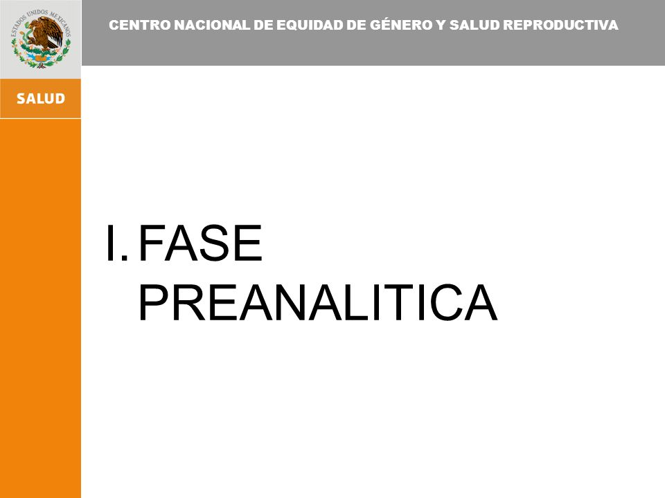 FASE PREANALITICA
