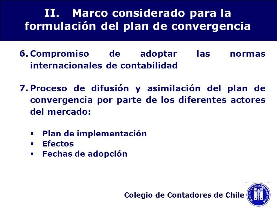 II. Marco considerado para la formulación del plan de convergencia