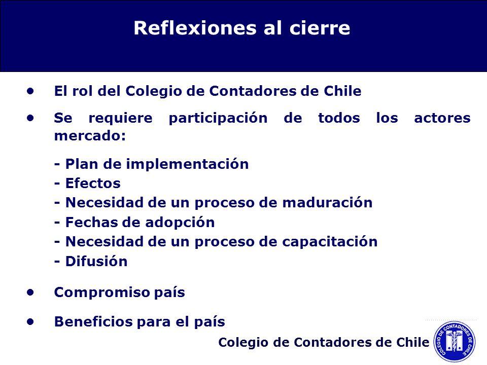 Reflexiones al cierre • El rol del Colegio de Contadores de Chile