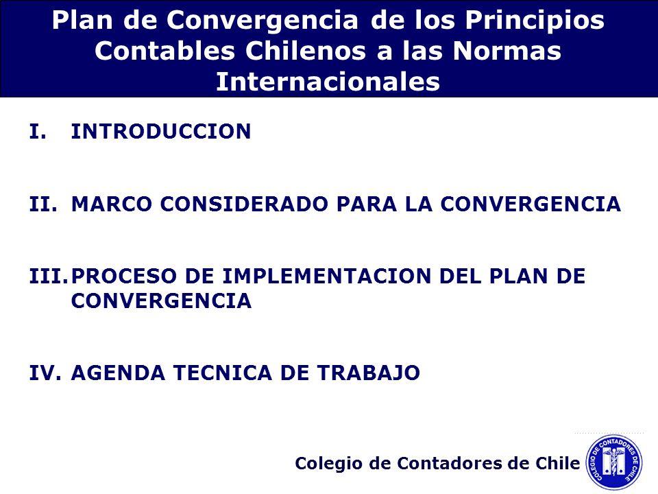 Plan de Convergencia de los Principios Contables Chilenos a las Normas Internacionales