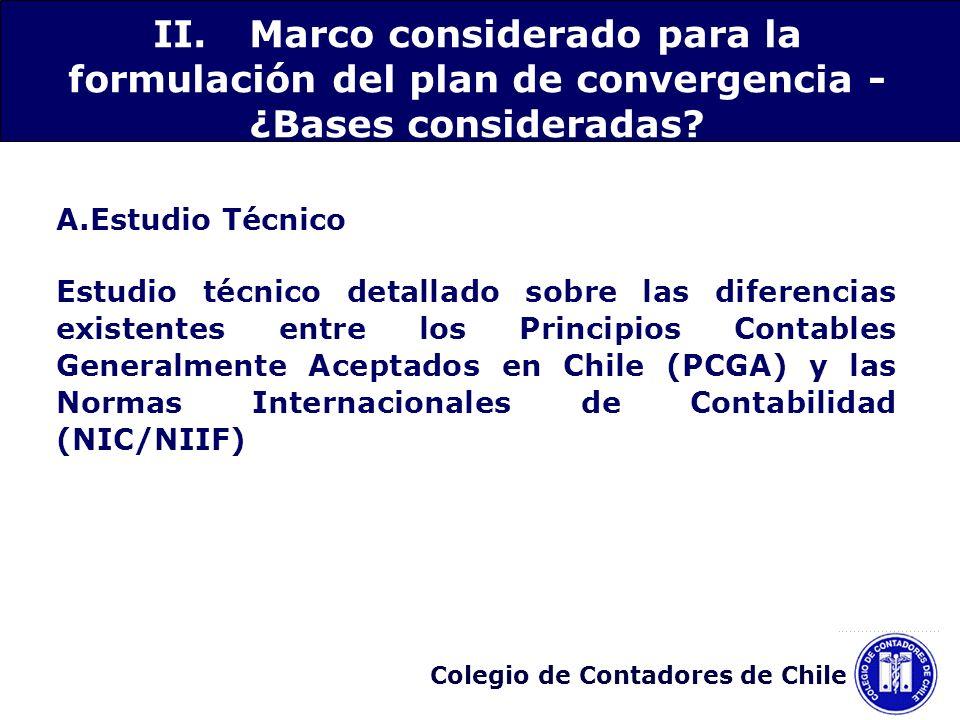 II. Marco considerado para la formulación del plan de convergencia - ¿Bases consideradas