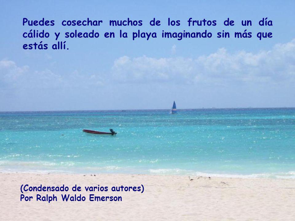 Puedes cosechar muchos de los frutos de un día cálido y soleado en la playa imaginando sin más que estás allí.