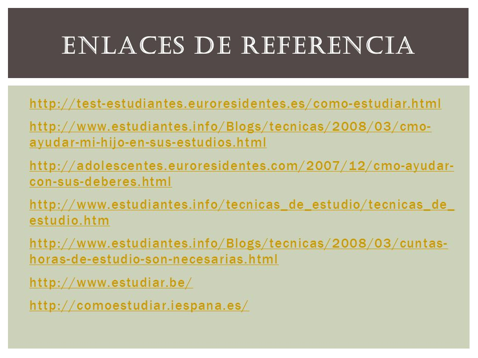 Enlaces de referencia