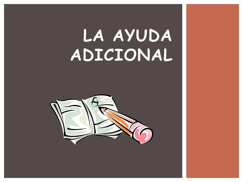 LA AYUDA ADICIONAL SESIÓN 3