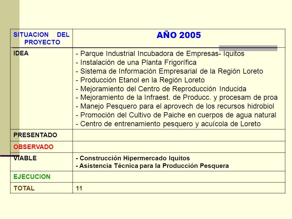 AÑO 2005 - Parque Industrial Incubadora de Empresas- Iquitos