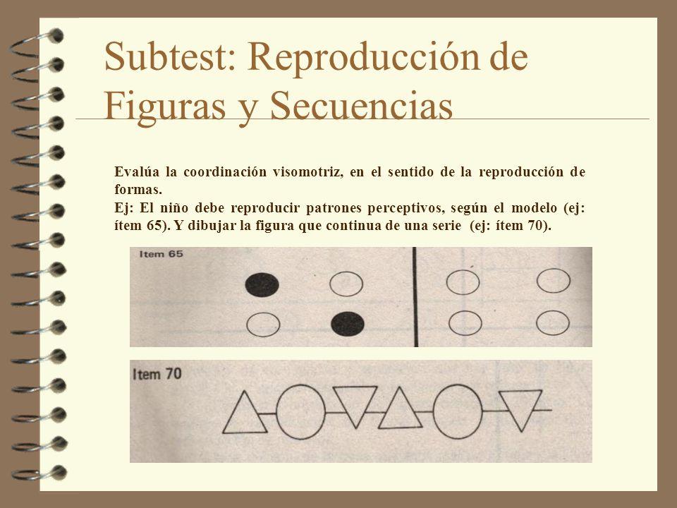 Subtest: Reproducción de Figuras y Secuencias