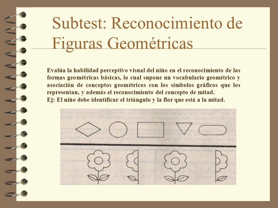 Subtest: Reconocimiento de Figuras Geométricas