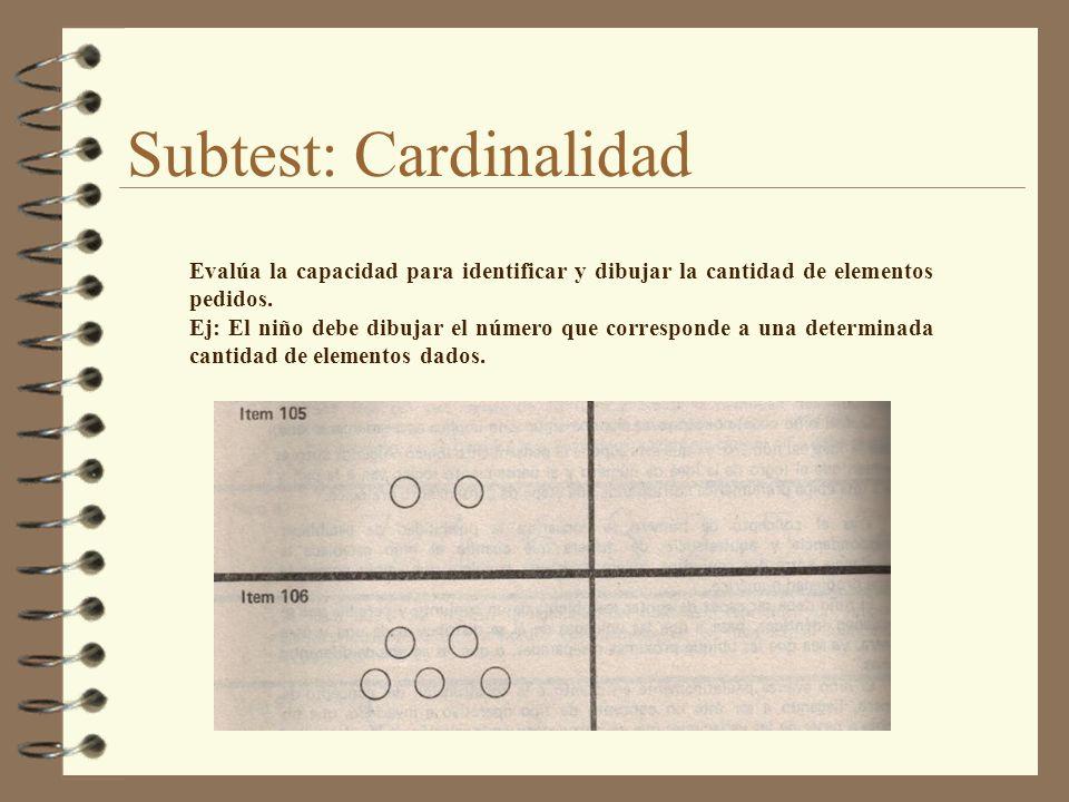 Subtest: Cardinalidad