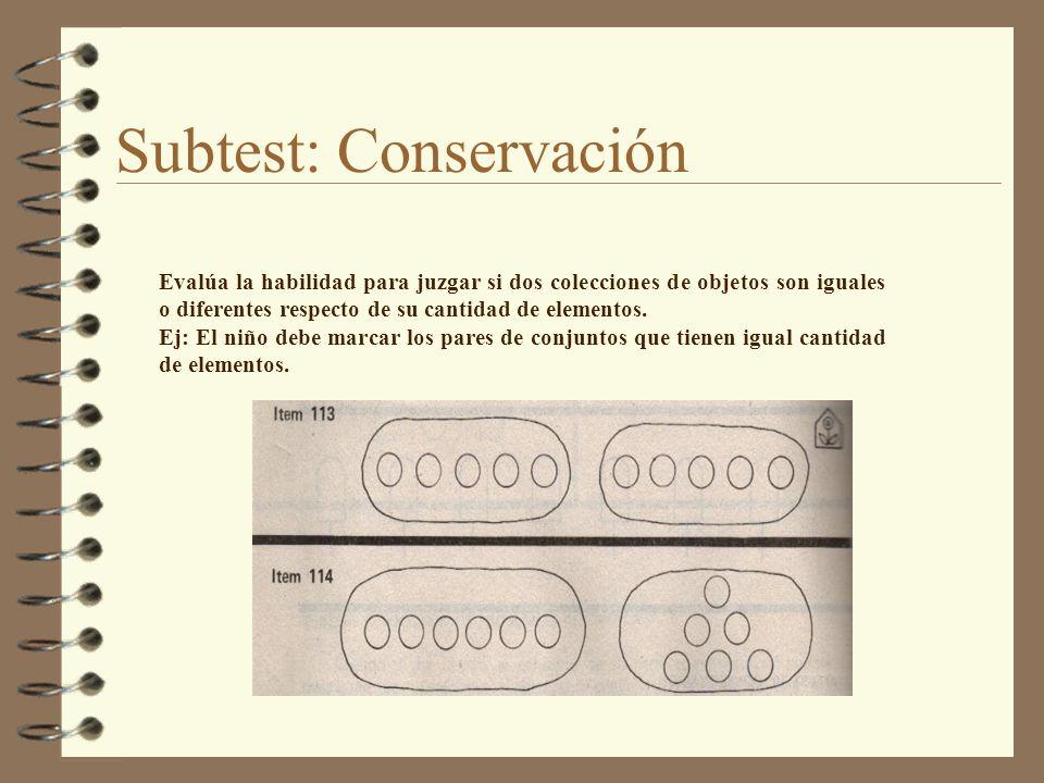 Subtest: Conservación