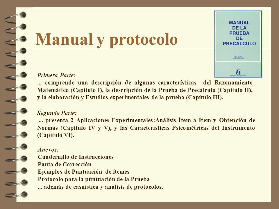 Manual y protocolo Primera Parte: