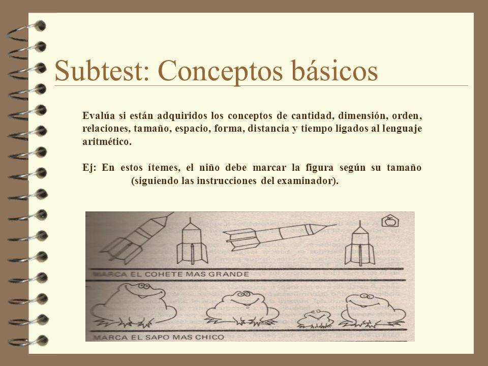 Subtest: Conceptos básicos