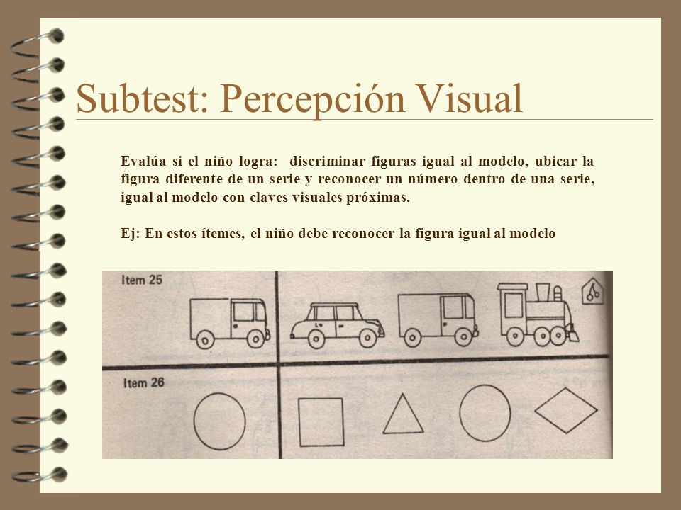 Subtest: Percepción Visual