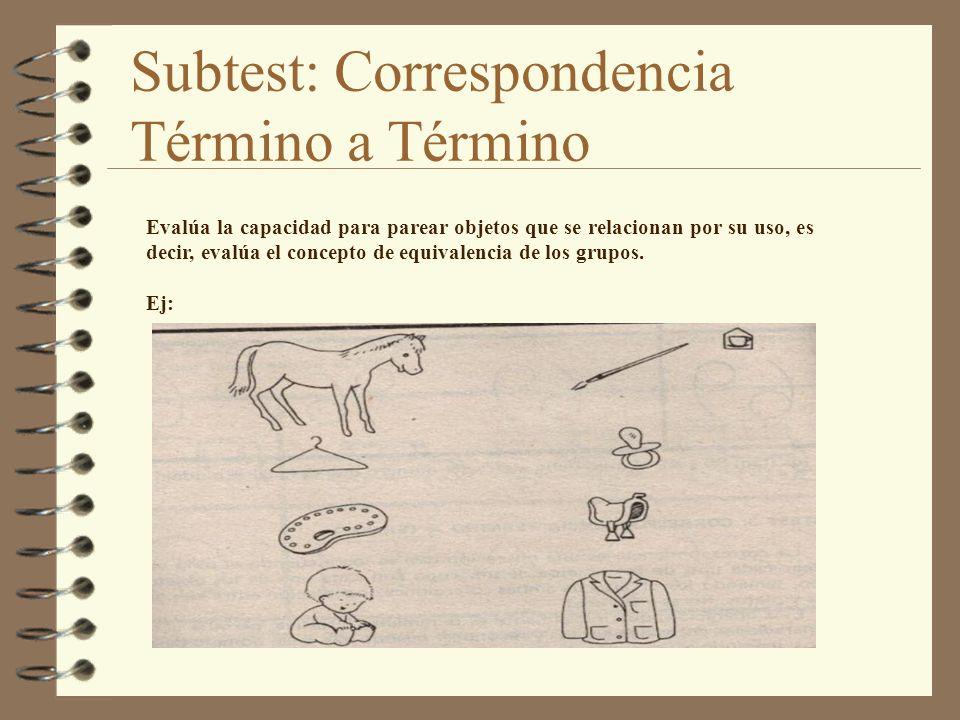 Subtest: Correspondencia Término a Término
