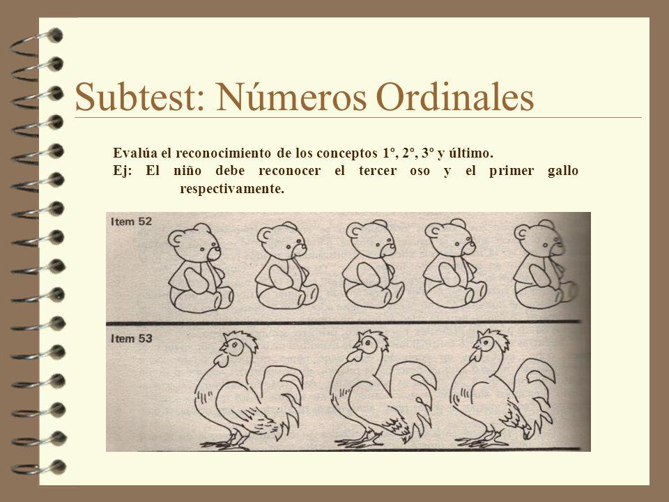 Subtest: Números Ordinales