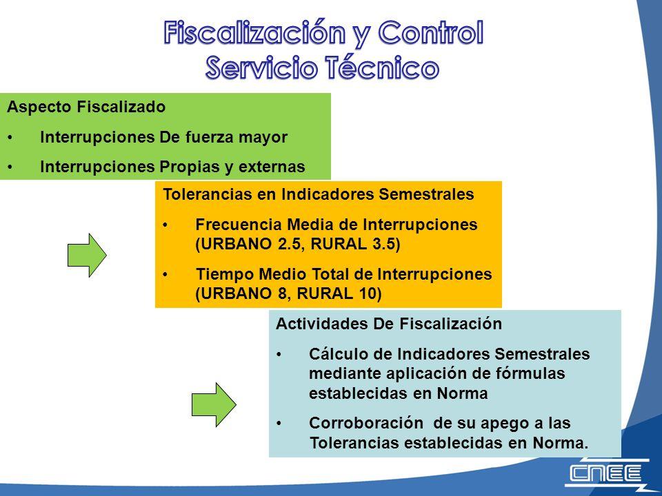 Fiscalización y Control Servicio Técnico