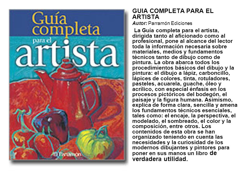 GUIA COMPLETA PARA EL ARTISTA