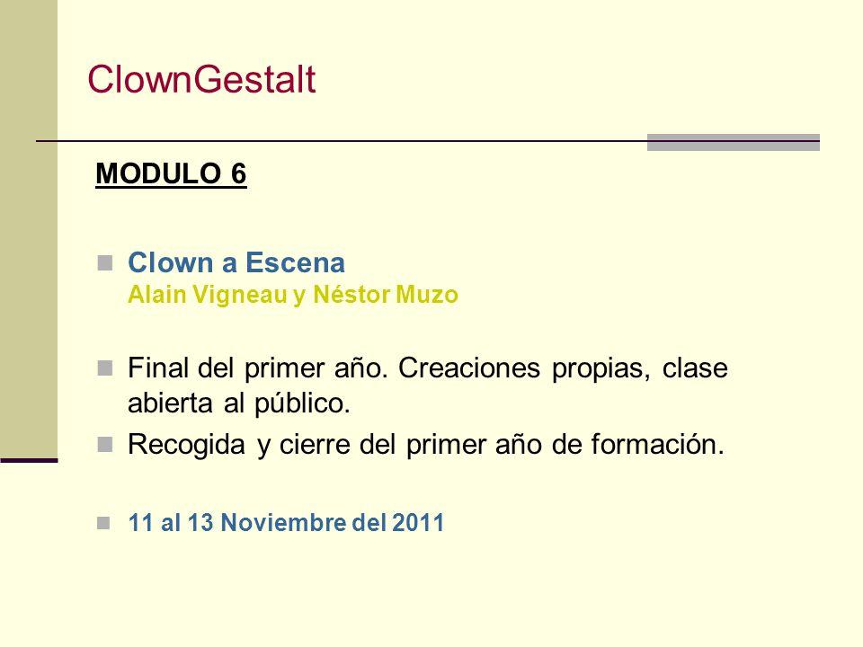 ClownGestalt MODULO 6 Clown a Escena Alain Vigneau y Néstor Muzo