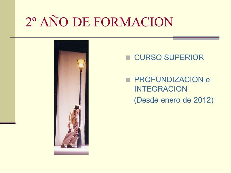 2º AÑO DE FORMACION CURSO SUPERIOR PROFUNDIZACION e INTEGRACION