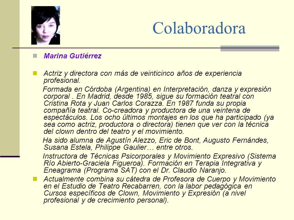 Colaboradora Marina Gutiérrez