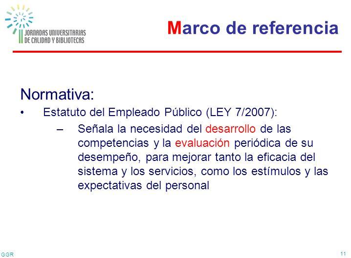 Marco de referencia Normativa:
