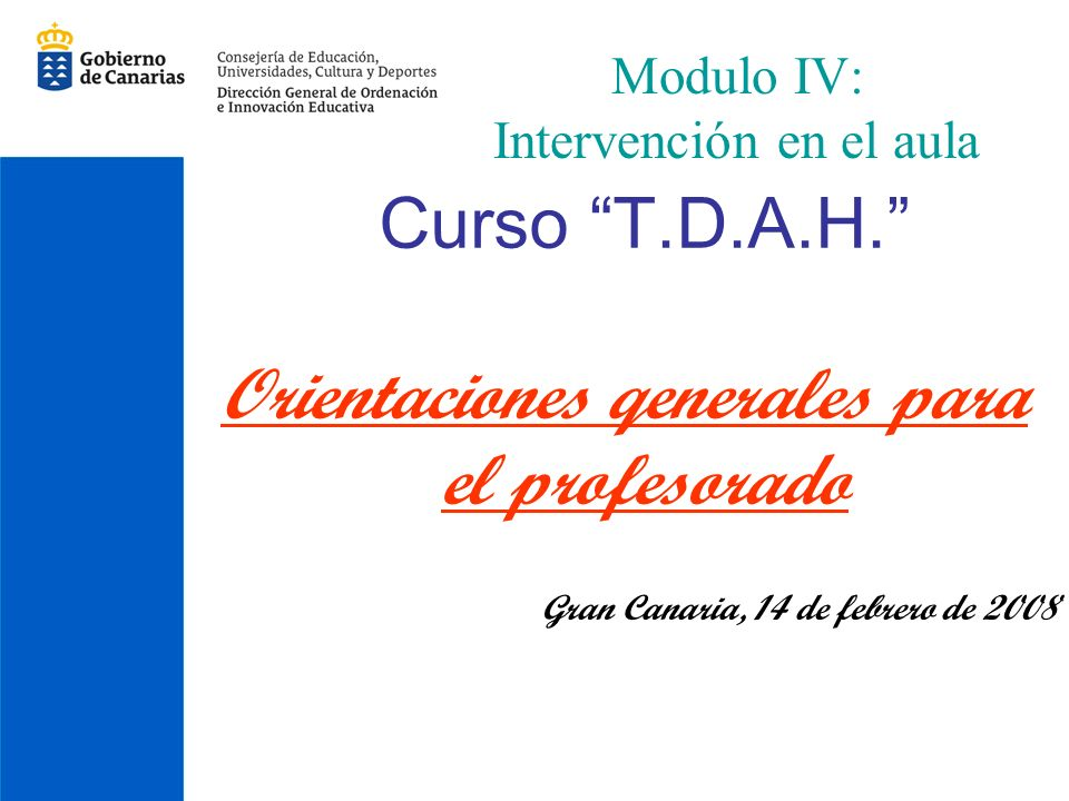 Modulo IV: Intervención en el aula