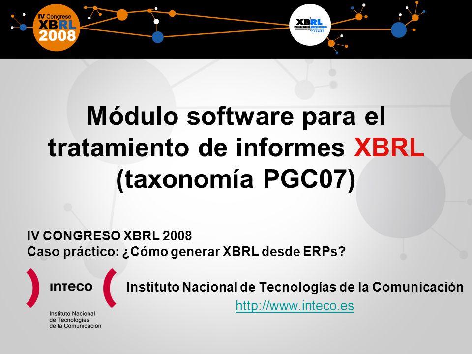 Módulo software para el tratamiento de informes XBRL (taxonomía PGC07)