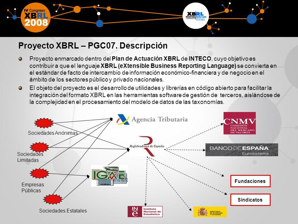Proyecto XBRL – PGC07. Descripción