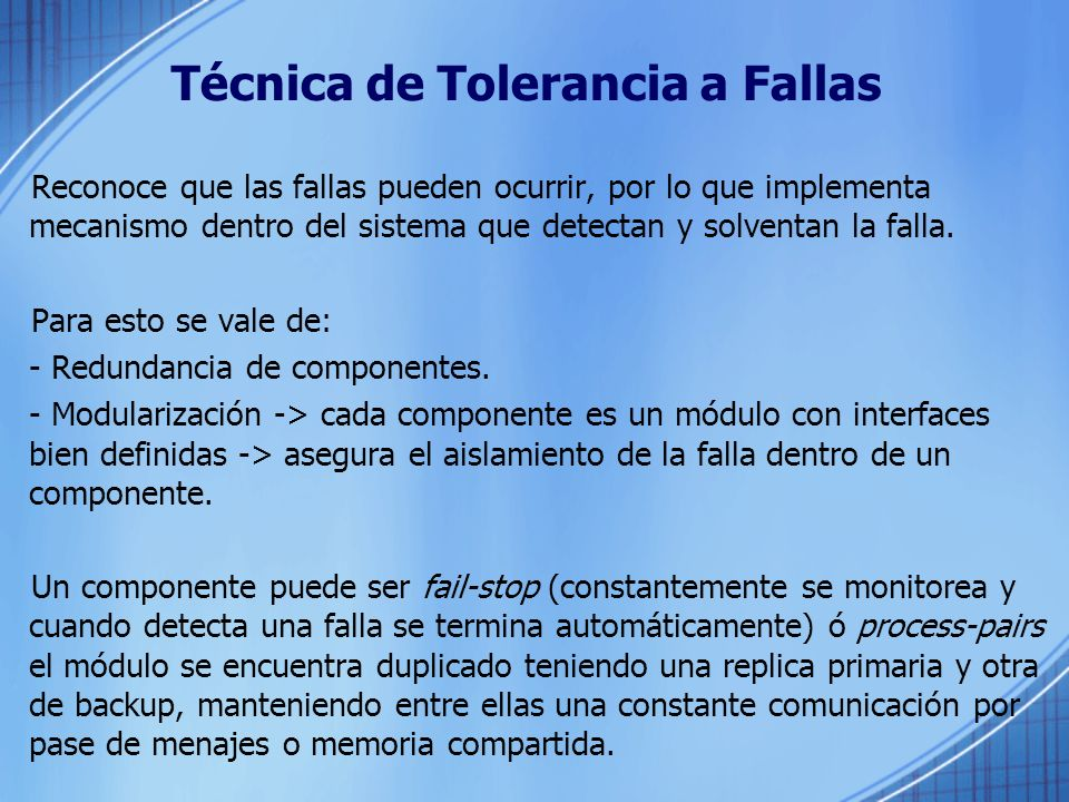 Técnica de Tolerancia a Fallas