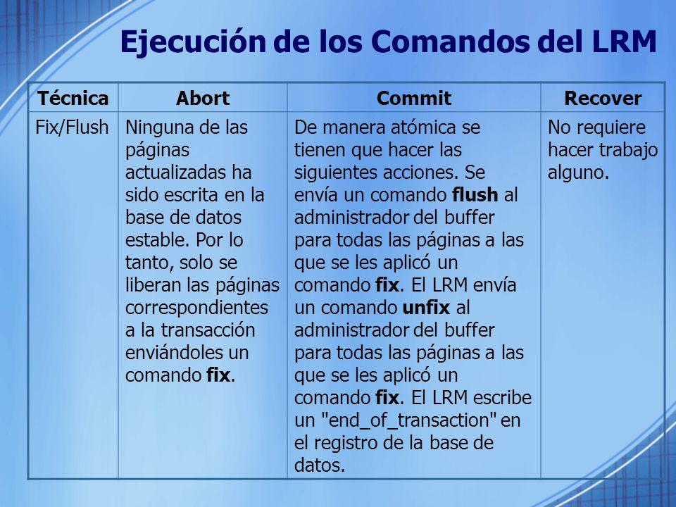 Ejecución de los Comandos del LRM