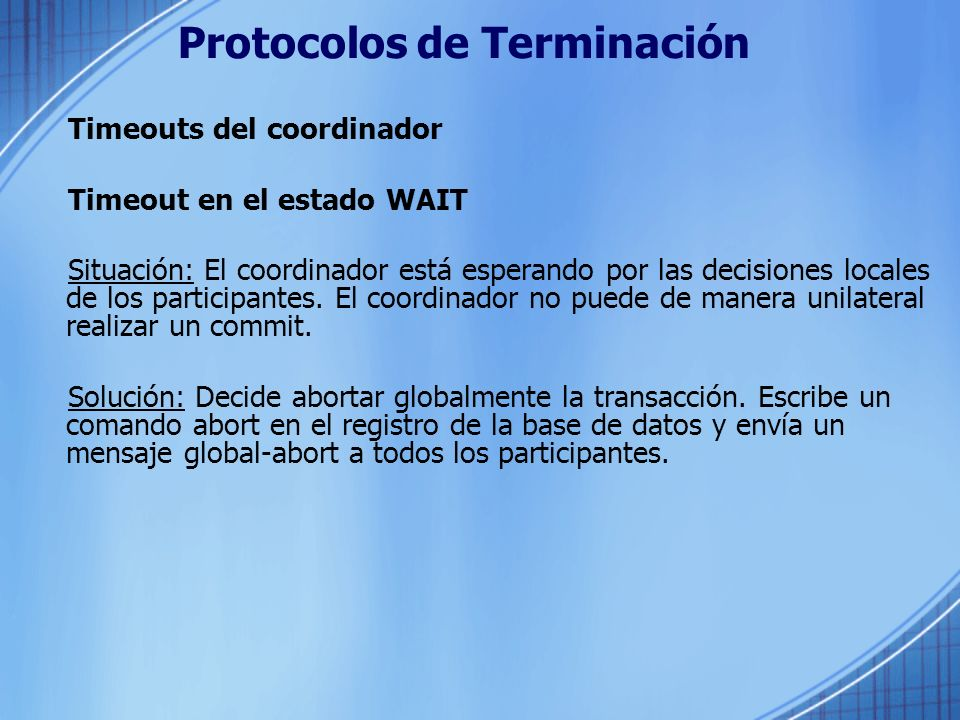 Protocolos de Terminación