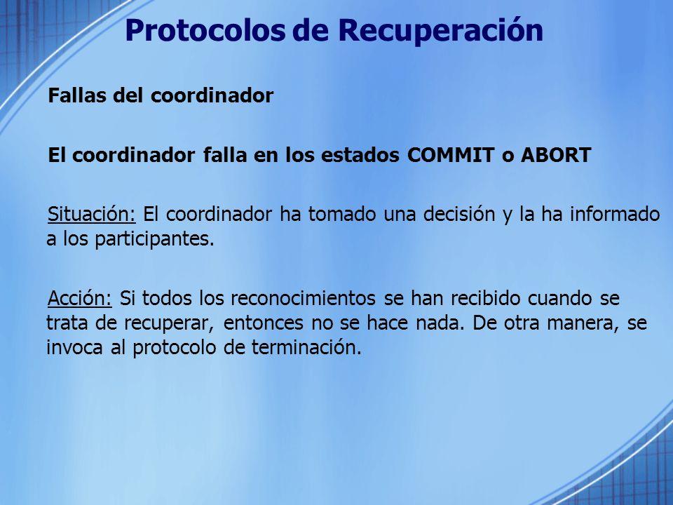 Protocolos de Recuperación