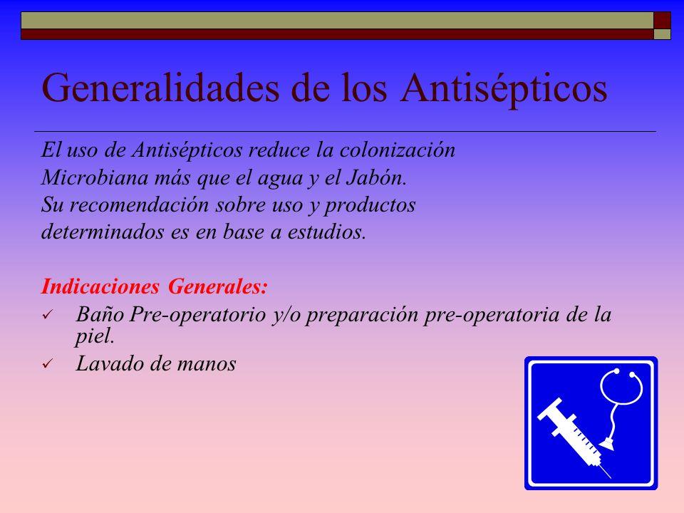 Generalidades de los Antisépticos