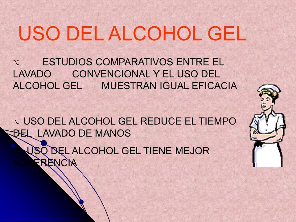 USO DEL ALCOHOL GEL USO DEL ALCOHOL GEL TIENE MEJOR ADHERENCIA