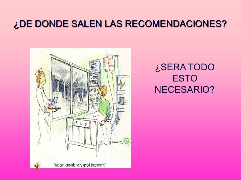 ¿DE DONDE SALEN LAS RECOMENDACIONES