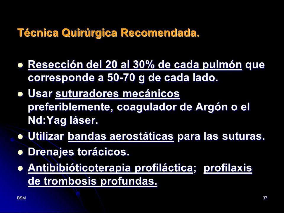 Técnica Quirúrgica Recomendada.