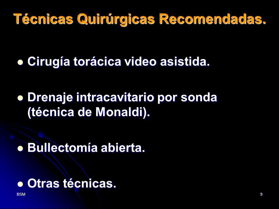 Técnicas Quirúrgicas Recomendadas.