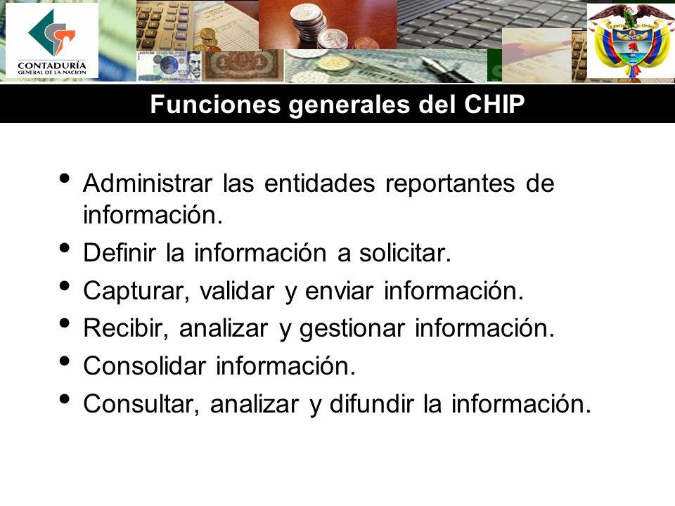 Funciones generales del CHIP